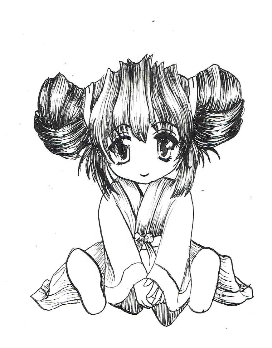 Dessin Manga Noir Et Blanc Facile
